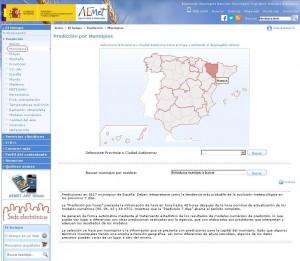 Predicción por municipios