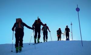 Esquí de montaña en estaciones de esquí