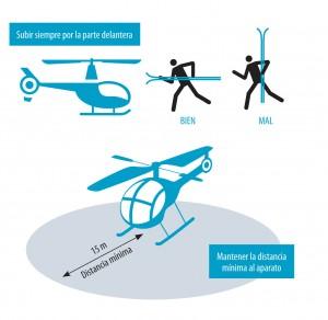 Entrar en el helicóptero